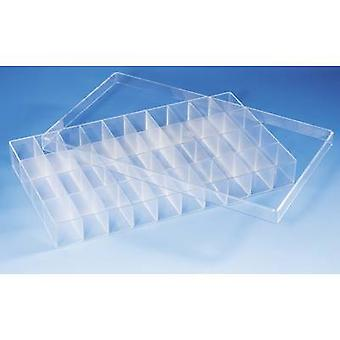 Assortment box (L x W x H) 358 x 210 x 43 mm No. of compartments: 40 fixed compartments