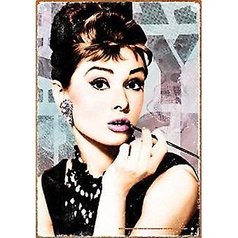 Audrey Hepburn Close Up Metal Sign 290Mm X 200Mm