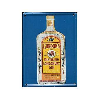 Gordons Gin metall postkort / Mini pålogging / kjøleskap Magnet