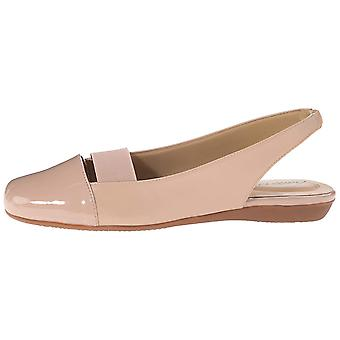 Trotters Womens sarina Leather Closed Toe Ankle Strap Slingback Flats