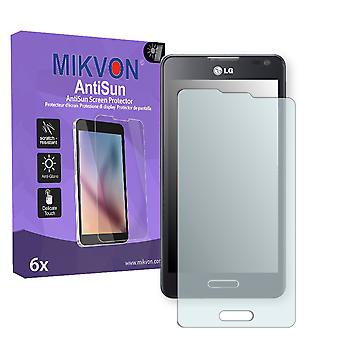 LG Optimus F6 Screen Protector - Mikvon AntiSun (Retail Package with accessories)