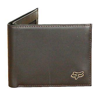 Fox głowy Bifold Premium skórzany portfel ~ Brown
