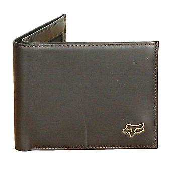 La tête de Fox Bifold Premium Leather Wallet ~ Brown