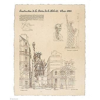 Estátua da liberdade Paris Poster Print by Yves Poinsot (22 x 28)