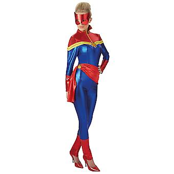 Captain Marvel Deluxe Kostüm für Erwachsene Herren