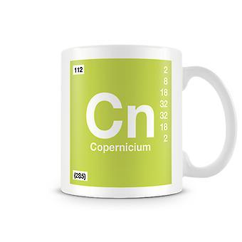 Scientific Printed Mug Featuring Element Symbol 112 Cn - Copernicium