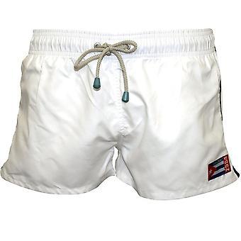Système de lubrification & chaudière Freshman Vintage Swim Shorts, blanc/bleu marine