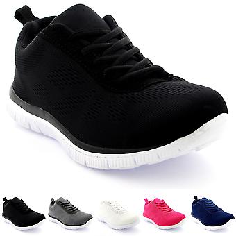 Womens Get Fit Mesh Running Trainers Athletic Walk Gym Shoes Sport Run UK 3-9