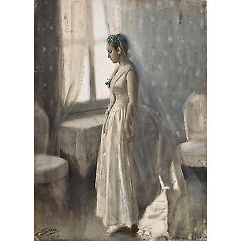 The bride, Anders Zorn, 40x60cm with tray