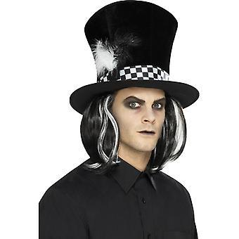 Sombrero partido de té oscuro