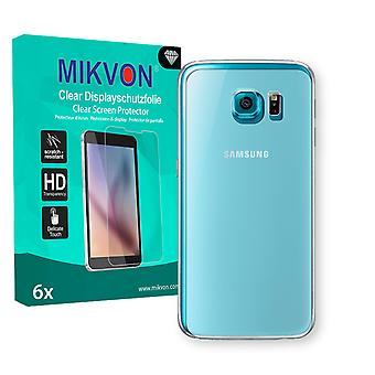 Samsung Galaxy S6 Duos (G9200) reverse Screen Protector - Mikvon Clear (Retail Package with accessories) (reduced foil)
