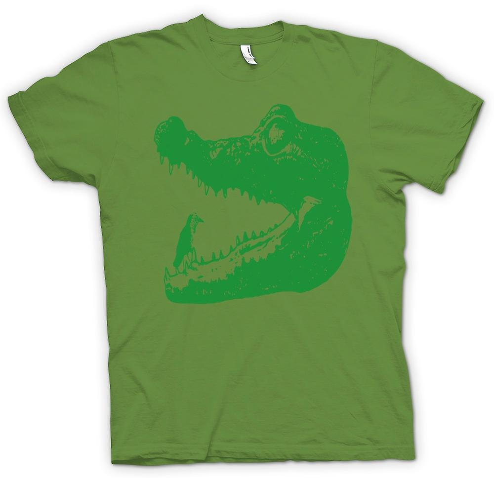 Mens T-shirt - Cool Aligator Crocodile - Cool Graphic Design