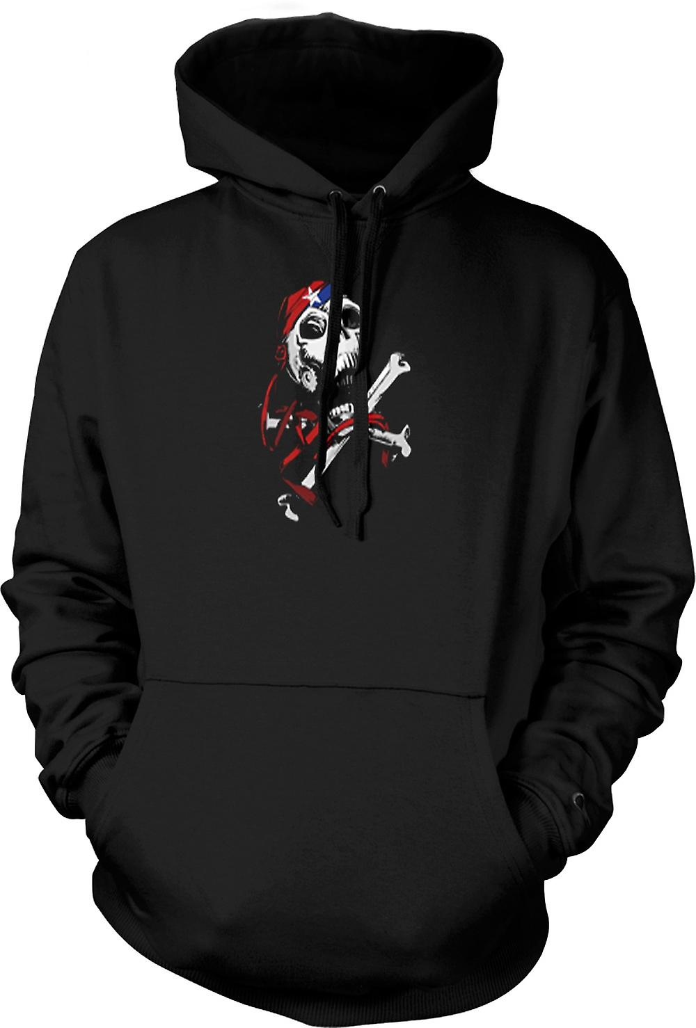 Kids Hoodie - Skull With Bandana & Cross Bones