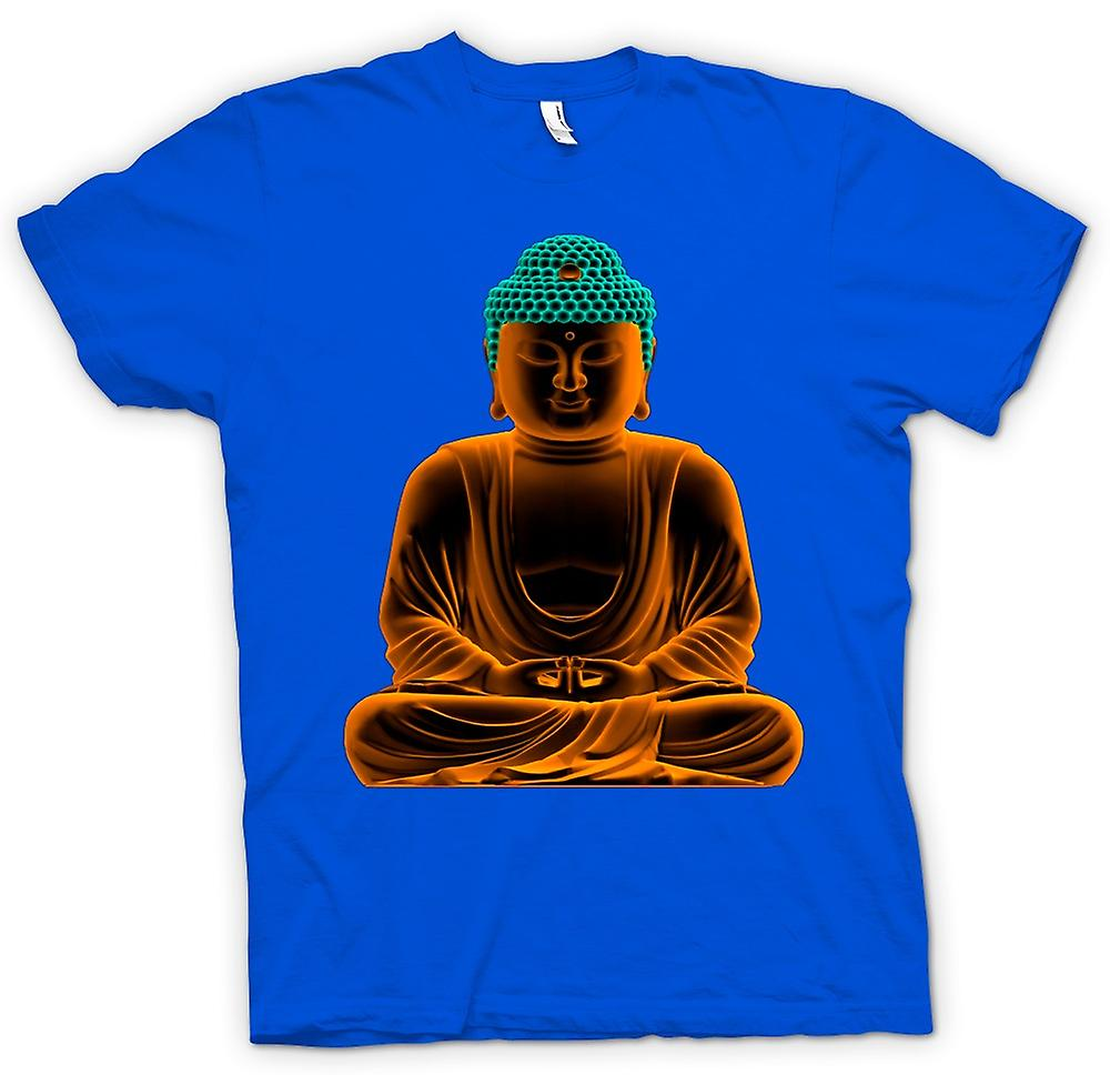 Mens T-shirt -  Serene Golden Buddha - Spiritual