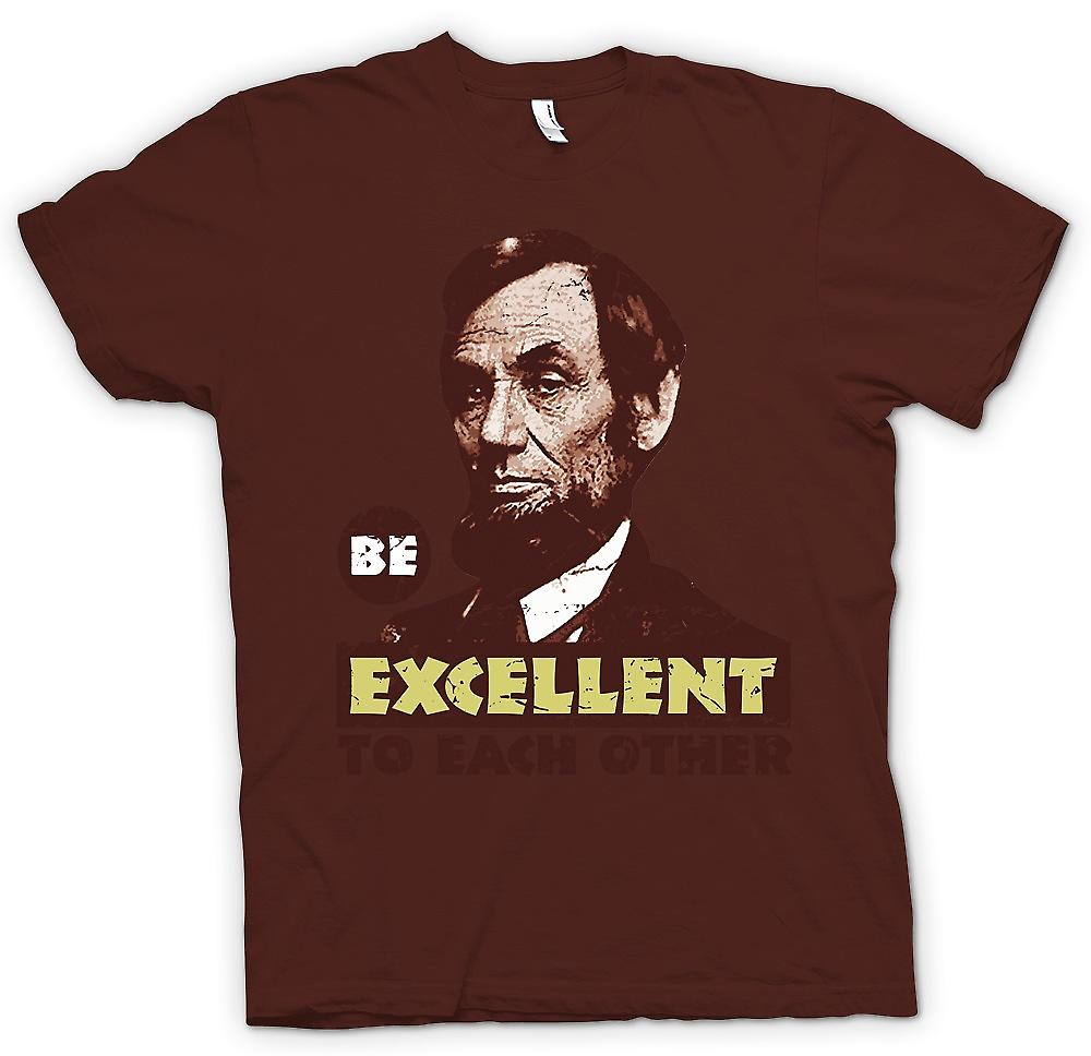 Mens t-skjorte - være utmerket til hverandre - Bill og Ted - Funny