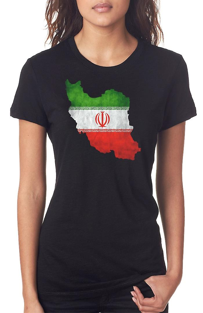 Iran Iranian Flag Map Ladies T Shirt
