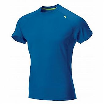 Base Elite 115 Short Sleeve Base Layer Blue/Lime Mens