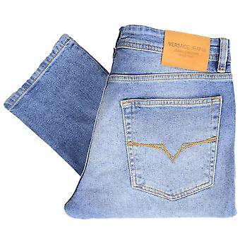 Versace Tum Skinny Fit Mid Wash Jeans