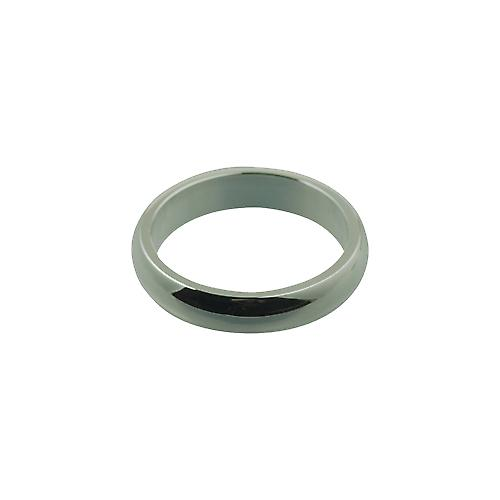 Silver 4mm plain D shaped Wedding Ring Size M