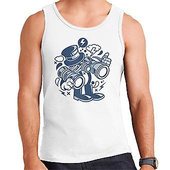 Binoculars Cartoon Character Men's Vest