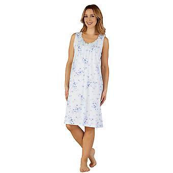 Slenderella ND3121 женщин Джерси ночь платье Loungewear ночная рубашка