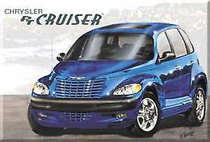 PT Cruiser (blue) Fridge Magnet