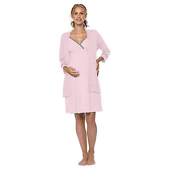 Belabumbum Lounge Chic Maternity & Nursing Nightie & Robe 2-piece Set