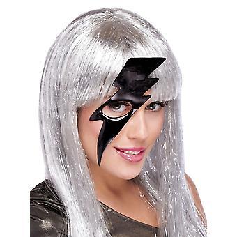 Lightning Bolt Mask Black For Masquerade