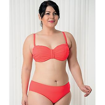 एक्वा Perla - महिला - सद्भाव - लाल - बिकनी दो टुकड़े - प्लस आकार