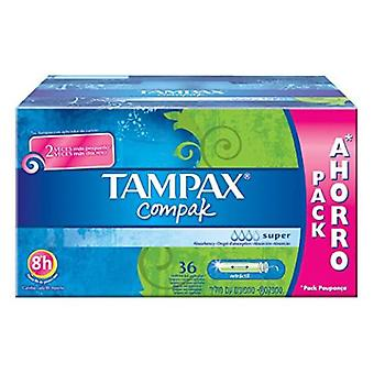 Tampax Compak Super tampon 36 Units (Hygiene and health , Intimate hygiene , Tampons)