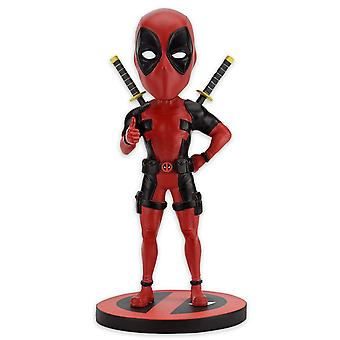 Marvel Headknocker Classic Deadpool colorful, resin, hand painted, in gift box.