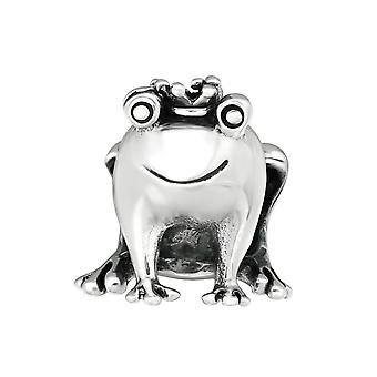 Frog - 925 Sterling Silver Plain Beads - W10221X