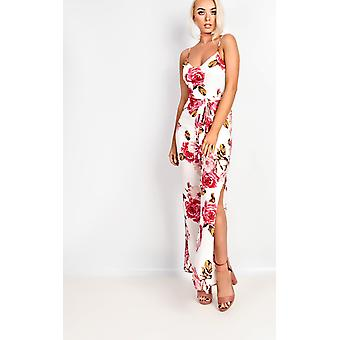 IKRUSH Womens Tilly Floral Tie Waist Jumpsuit