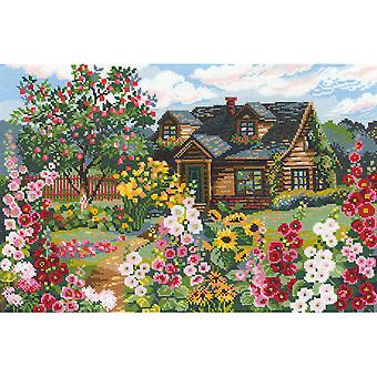 Flowering Garden Counted Cross Stitch Kit-15