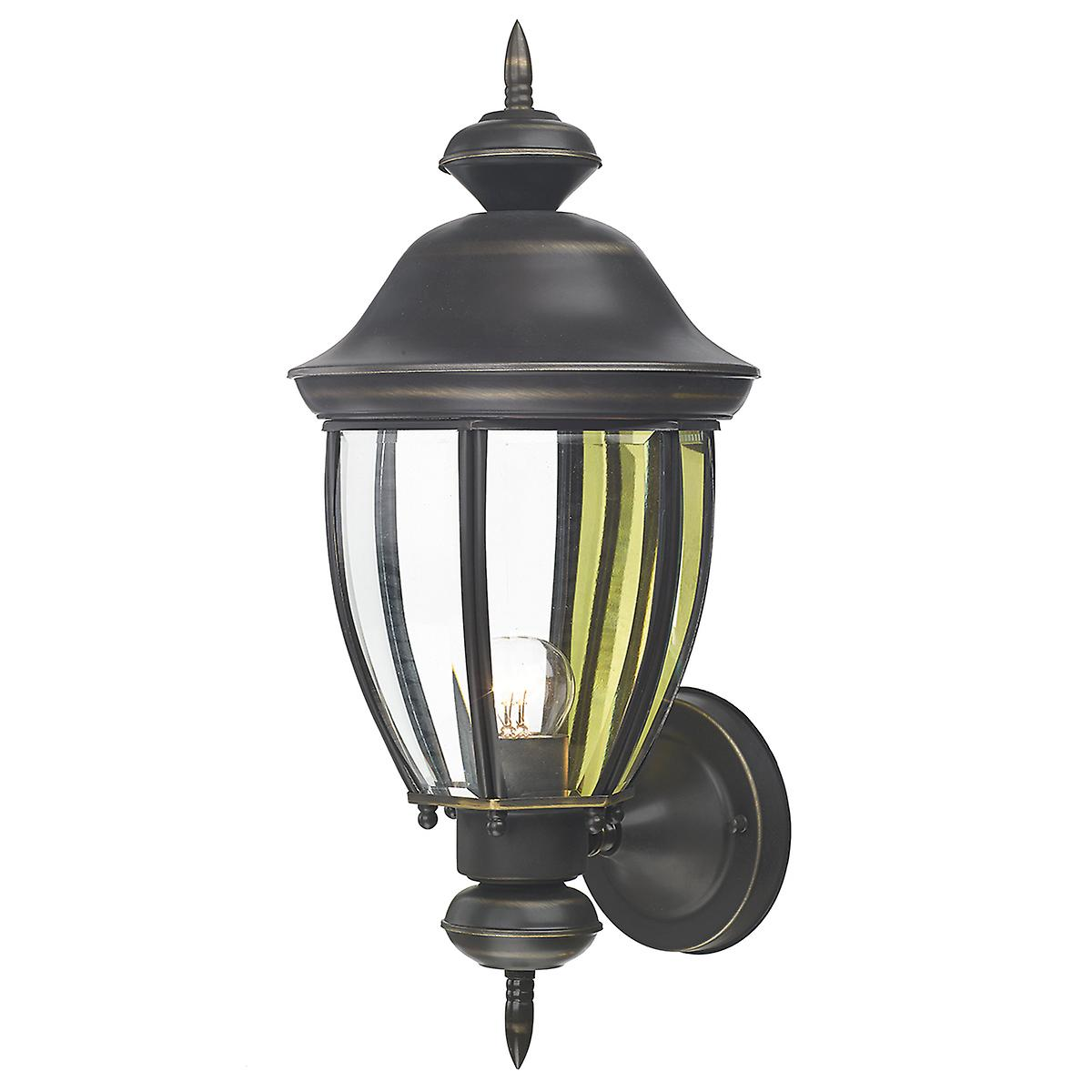 Dar LOD1640 Lodge Outdoor Wall Light Lantern Double Insulated