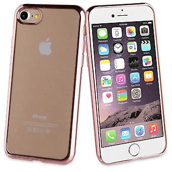 Muvit TPU frame rose gold bling iphone 7 (Home , Electronics , Telephones , Accessories)