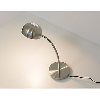 Table lamp Picabo with Flexi-arm metal nickel matt E14