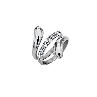 Ladies Stainless steel designer ring with cubic zirconia stones