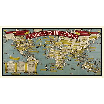 Tea Revives The World Poster Print by Macdonald Gill (28 x 14)