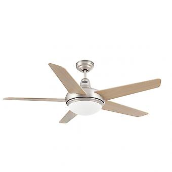 "Faro ceiling fan Ovni Nickel matt 132 cm / 52"" with lighting"