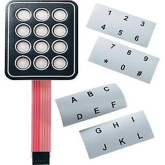 APEM AC3535 AC3535 Membrane Keypad With Labelling Strips Matrix 4 x 4 Contact load 30 V/DC (L x W) 95 mm x 95 mm