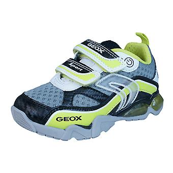 Geox J LT Eclipse B Childrens Boys Trainers / Shoes - White Lime