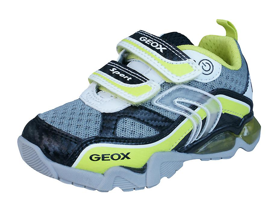 Geox J LT Eclipse B Shoes Childrens Boys Trainers / Shoes B - White Lime 2ede25