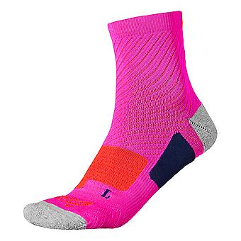 Asics Quater Stability Womens Running Sport Training Socks Pink