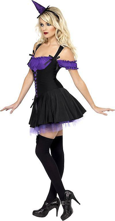Smiffys Fever Wicked Witch Womens Costume Fancy Dress Halloween