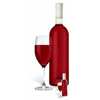 Giant Red Wine Glass and Bottle Cardboard Cutout / Standee / Stand Up