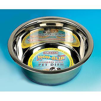 Classic Super Prem S/steel Non Slip Dish 1600ml (215mmdia) (Pack of 6)