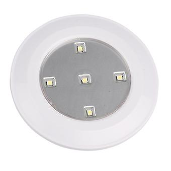 Pack of 3 push on off LEDS lights round lights for home kitchen wardrobe