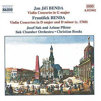 Benda/Benda - Jan Jir & Frantisek Benda: Concerti per violino, importazione USA Vol. 1 [CD]