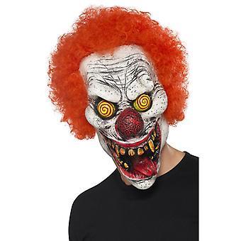Clownmaske Psycho Saw Latex mit Perücken Horrorclown